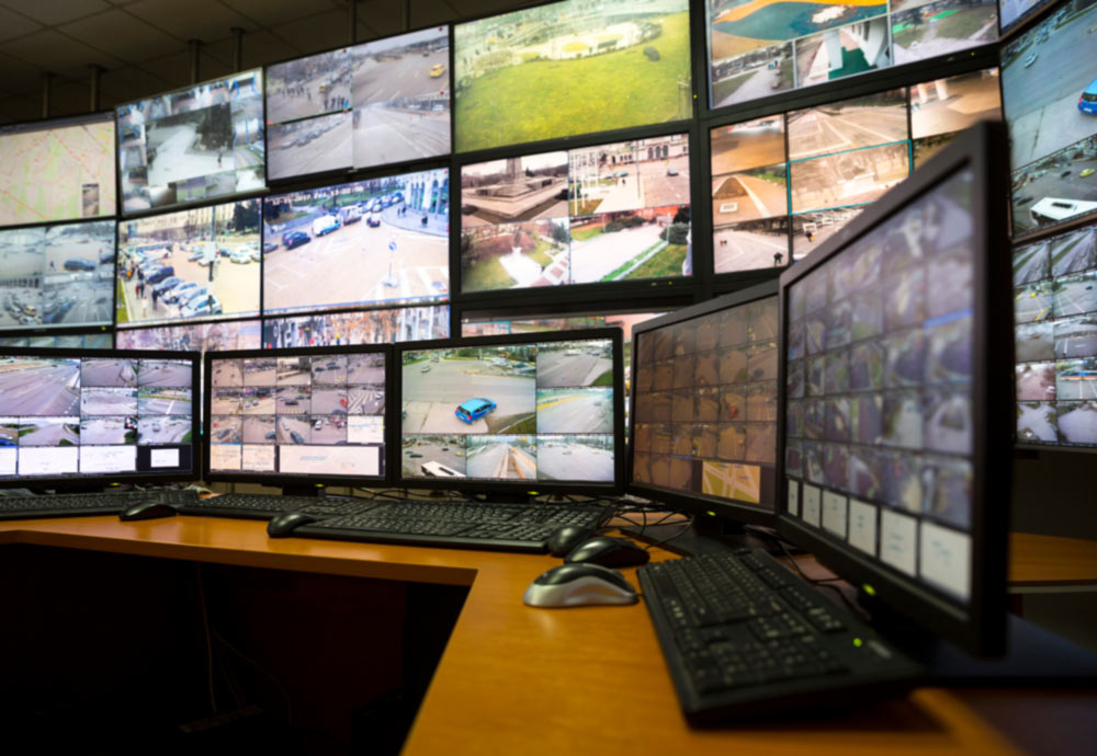 Traffic Video Surveillance Monitoring Station Control Room